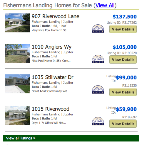 Fisherman's Landing real estate Jupiter FL