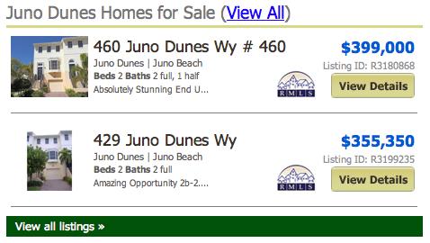 Juno Dunes Townhomes listings