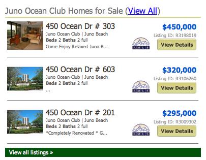 Juno Ocean Club Condos