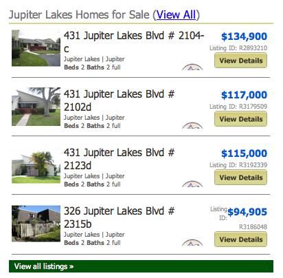 Jupiter Lakes Condos Townhomes