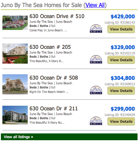 Juno by the sea real estate listings