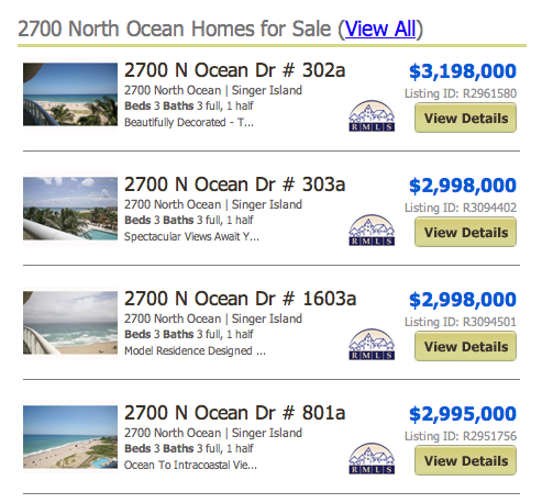 2700 North Ocean Homes for Sale (View All) listings