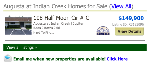 Augusta at Indian Creek Homes for Sale (View All) listings