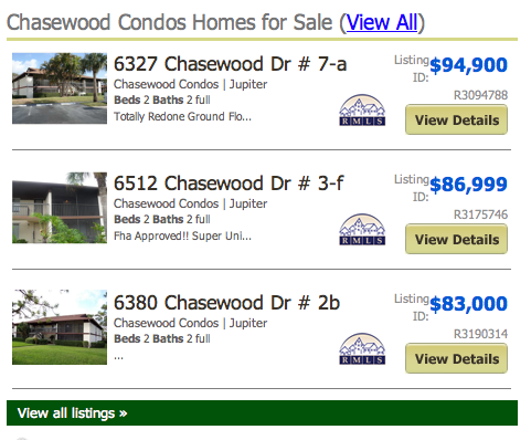 Brentwood Listings Condos Jupiter