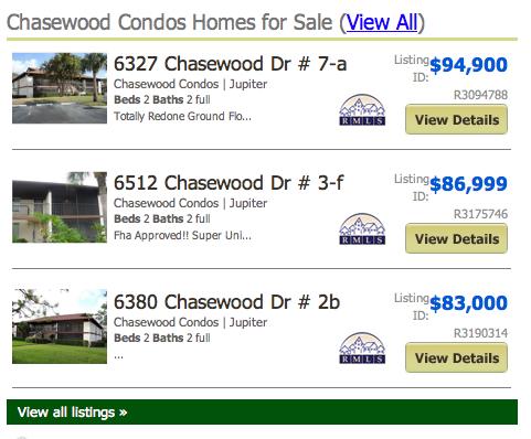 Brentwood Listings Condos Jupiter