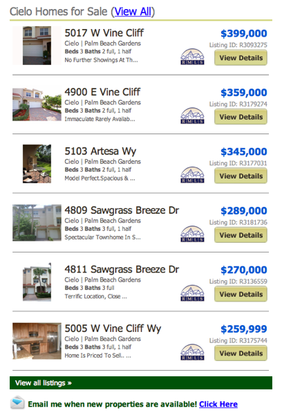 Cielo Homes & Townhomes for Sale (View All) listings
