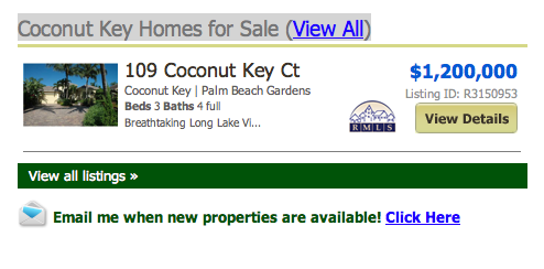 Coconut Key Homes for Sale (View All) listings