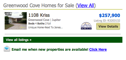 Greenwood Cove Homes for Sale (View All) listings