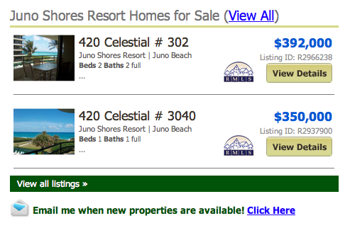 Juno Shores Resort Homes for Sale (View All) Juno Beach real estate listings