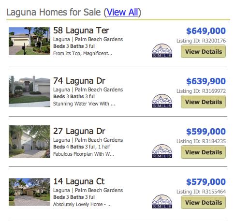 Laguna homes for sale in palm beach gardens
