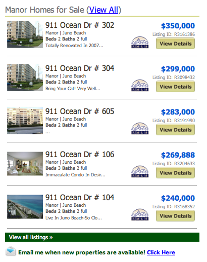Manor Homes for Sale (View All) listings