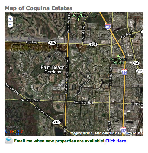Map of Coquina Estates