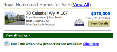 Listings: Royal Homestead Homes for Sale (View All)