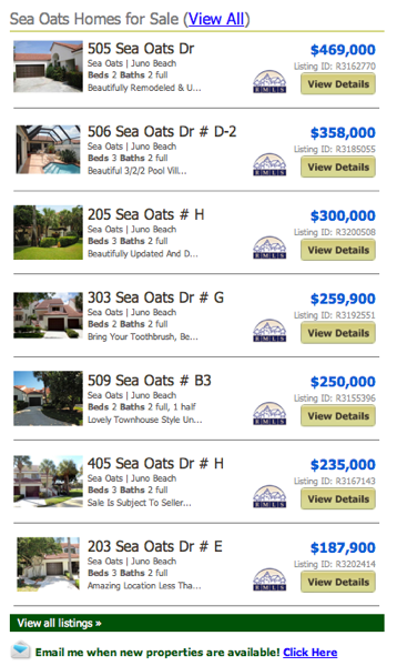 Sea Oats Homes for Sale (View All) listings