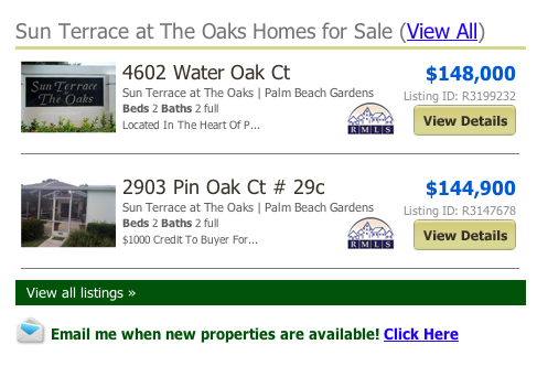 Sun Terrace at The Oaks Homes for Sale (View All) listings