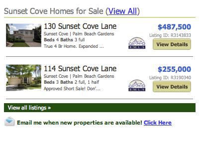Sunset Cove listings balm beach gardens homes
