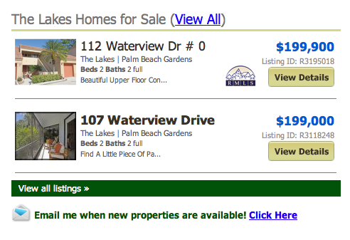 The Lakes Homes for Sale (View All) listings
