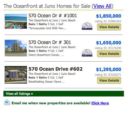 The Oceanfront at Juno Homes for Sale - listings