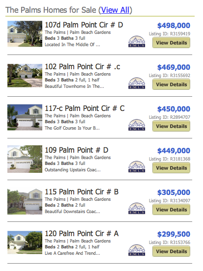 The Palms real estate for sale listings
