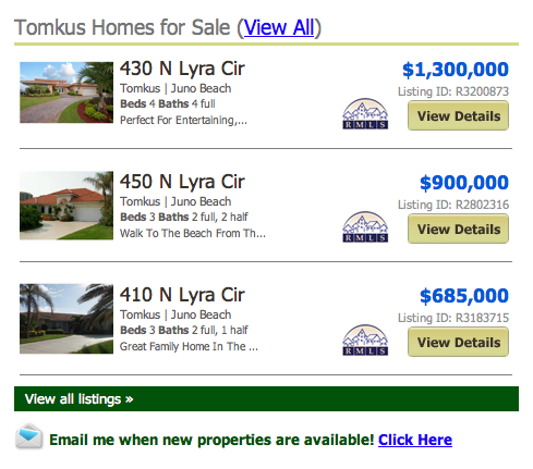 Tomkus Homes for Sale (View All) Listings in Juno Beach FL