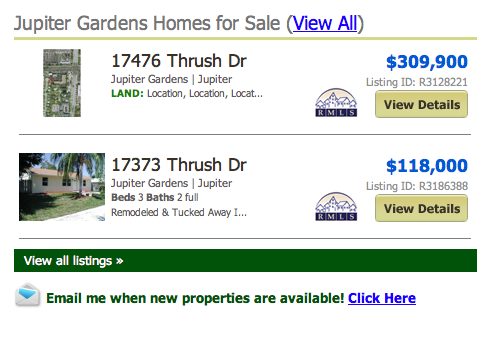 view all listings Jupiter Gardens Homes for Sale