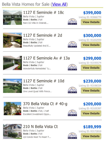 Bella Vista Homes for Sale (View All)