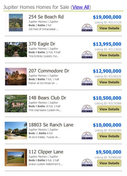 Jupiter homes listings