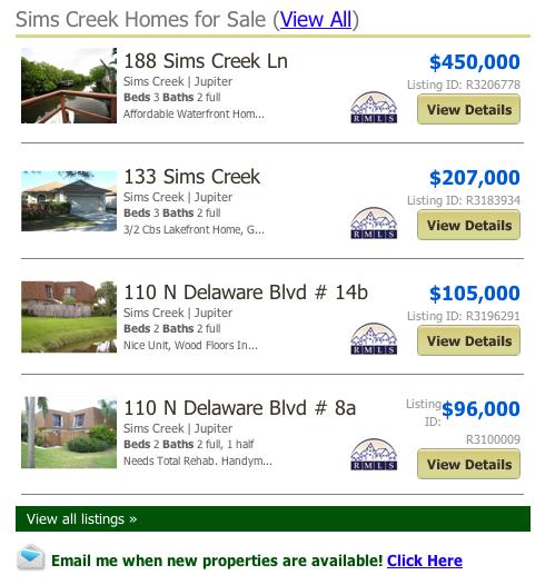Sims Creek Real Estate