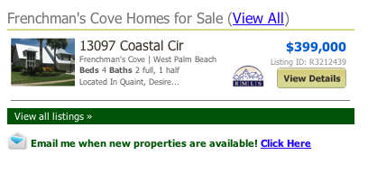 Frenchman's Cove listings Palm Beach Gardens