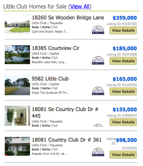 Little Club Homes for Sale Jupiter FL MLS search