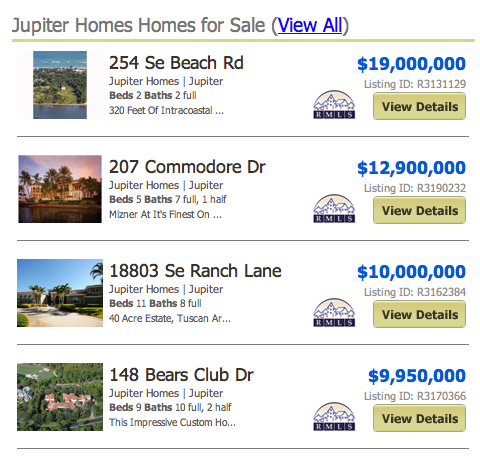 Jupiter Homes Homes for Sale