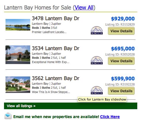 Lantern Bay Jonathans Landing Homes