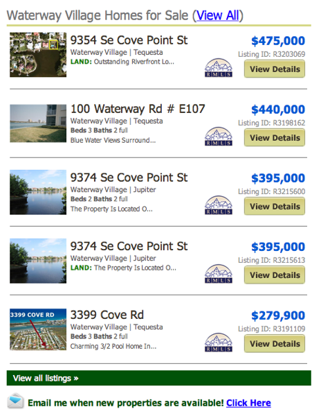 Waterway Village Homes for Sale