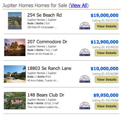 River Oaks Jupiter Homes