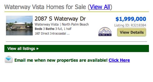 Waterway Vista Homes for Sale