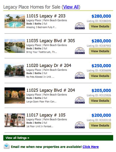 Legacy Place Palm Beach Gardens Condos & Townhouses
