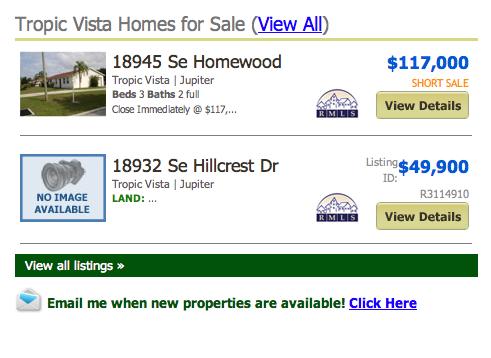 Tropic Vista Homes for Sale