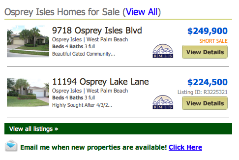 Osprey Isles Homes