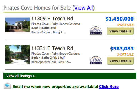 Pirates Cove Homes for Sale