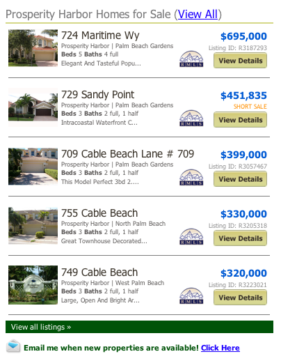 Prosperity Harbor North Palm Beach Gardens Homes