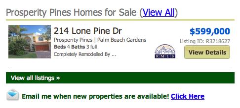 Prosperity Pines Palm Beach Gardens Homes