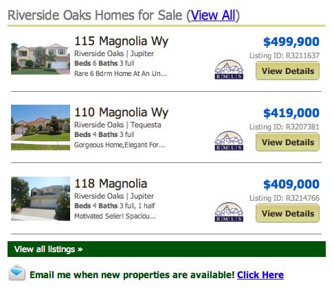 Riverside Oaks Tequesta Homes