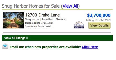 Snug Harbor Palm Beach Gardens Homes