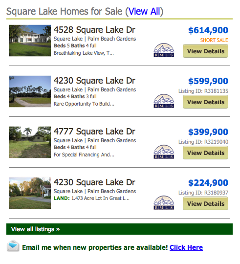Square Lake Homes for Sale