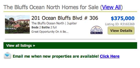 Bluffs Ocean North Jupiter Condos