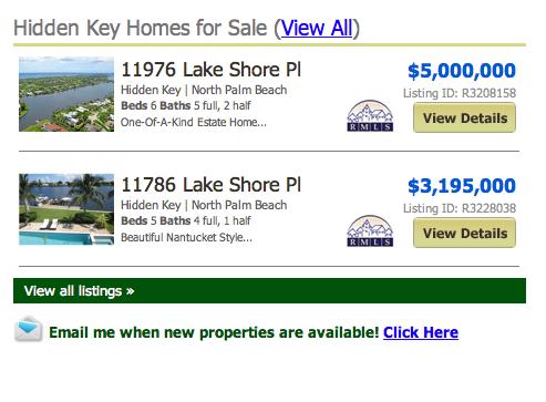 Hidden Key North Palm Beach Homes