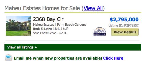Maheu Estates Palm Beach Gardens