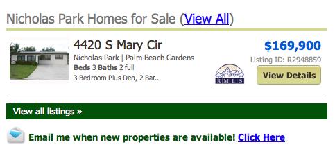 Nicholas Park Palm Beach Gardens Homes
