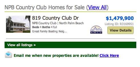 North Palm Beach Country Club Homes