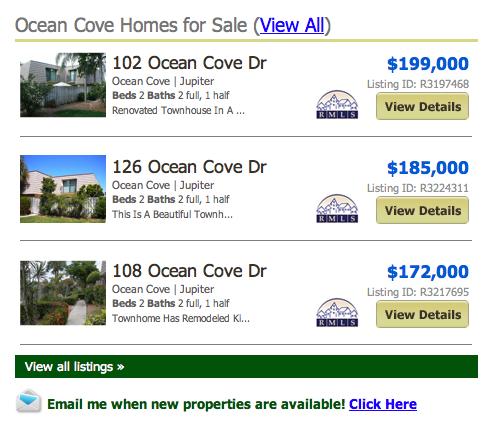 Ocean Cove Jupiter Townhomes